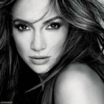 Jennifer Lopez black and white