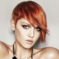 Copper Colored Hair on Woman With Copper Colored Hair