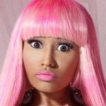 Nicki Minaj with pink hair