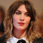 Alexa Chung with brown to blonde ombre hair
