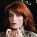 Florence Welch with her traditional red hair color